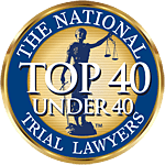 The National Trial Lawyers Top 40 Under 40 award logo